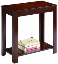 CHAIR SIDE END TABLE IN ESPRESSO FINISH - $58.41