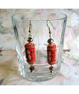 Handmade Kashmiri Long Beaded Dangle Drop Earri... - $16.00