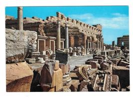 Libya Leptis Magna Lebda Roman Ruins New Forum Vintage Genah Postcard 4X6 - $5.69