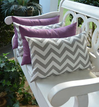 Set of 4 - In / Outdoor Lumbar Throw Pillows - ... - $49.96