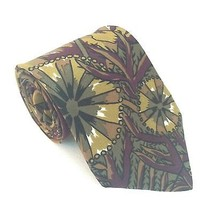FUMAGALLI'S  NECK TIE. 100% Silk, Green, Brown & Purple Abstract. MADE I... - $37.07