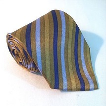 ARROW Necktie. Gold and Blue Stripe Pattern. 100% Silk. Great for a brow... - $11.82