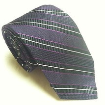 Joseph Abboud Slim Short Purple Stripe Necktie Silk EUC - €9,75 EUR