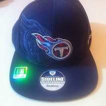 NFL TITANS L/XL REEBOK Hat New With Tags Navy Blue Official Sideline Hea... - $24.74