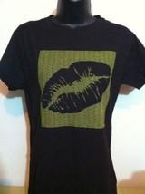 New Pucker Vodka Lips Black T-shirt Size L - $24.74