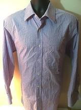 MICHAEL KORS Dress Shirt SIZE: 16.5 - 32/33. Purple & White Check Pattern. - €23,09 EUR