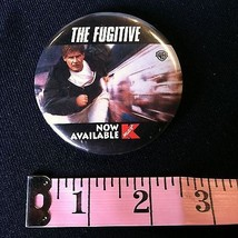The Fugitive Harrison Ford Release Badge Promo Movie Pin Vintage Collect... - $4.63