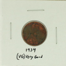 1934 United States Lincoln Wheat Penny Rating (VG) Very Good - $0.10