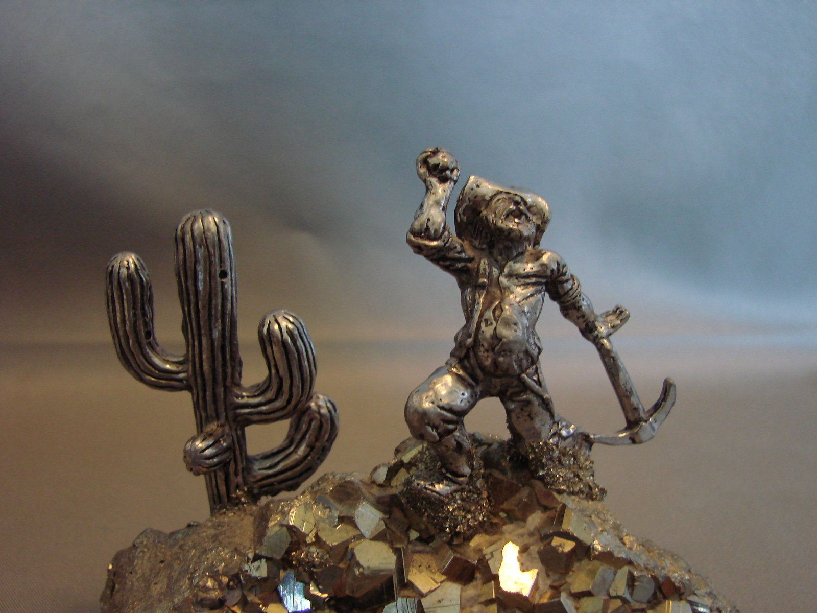 Gold Miner Pewter Figurine Embedded in and 26 similar items