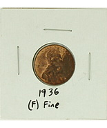 1936 United States Lincoln Wheat Penny Rating (F) Fine - $0.21 CAD