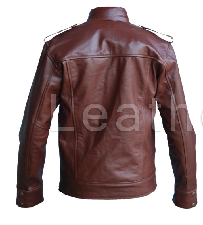 leather skin men reddish brown genuine leather jacket outerwear. Black Bedroom Furniture Sets. Home Design Ideas