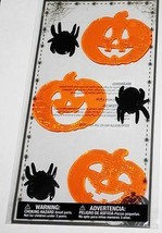 Halloween   **SPIDERS & JACK O' LANTERNS**   Gel Clings    NIP - $3.75