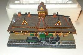 DANBURY MINT- HISTORIC RAILROAD STATIONS- TENAFLY W/COA - BOXED- W62 - $46.76