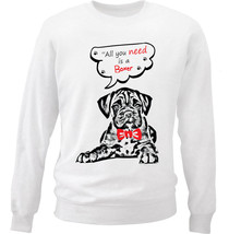 Boxer All You Need - New White Cotton Sweatshirt - $34.33