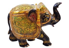ANTIQUE INDIAN VINTAGE LOOK HAND CARVED WOODEN ELEPHANT STATUE FOR HOME ... - $49.99