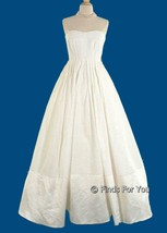 J Crew Women's Corliss Gown Dress Strapless Wedding Formal Ivory Sz 10 4... - $183.99
