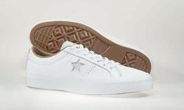 CONVERSE Men's Premium Leather OX w/ Lunarlon Insole White Shoes Size 9 NEW - $59.39