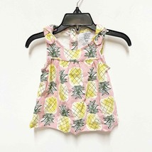 Carter's NWT 9 Month Pink Pineapple Sleeveless Relaxed Tank Top - $7.67