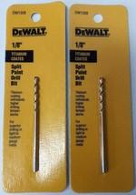 "DeWalt DW1308 1/8"" Titanium Coated Speed Tip Split Point Drill Bit 2PKS - $3.47"
