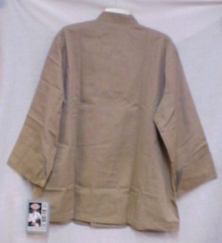 Dickies Chef Coat Tan Large CW070305 Restaurant Button Front Uniform Jacket New