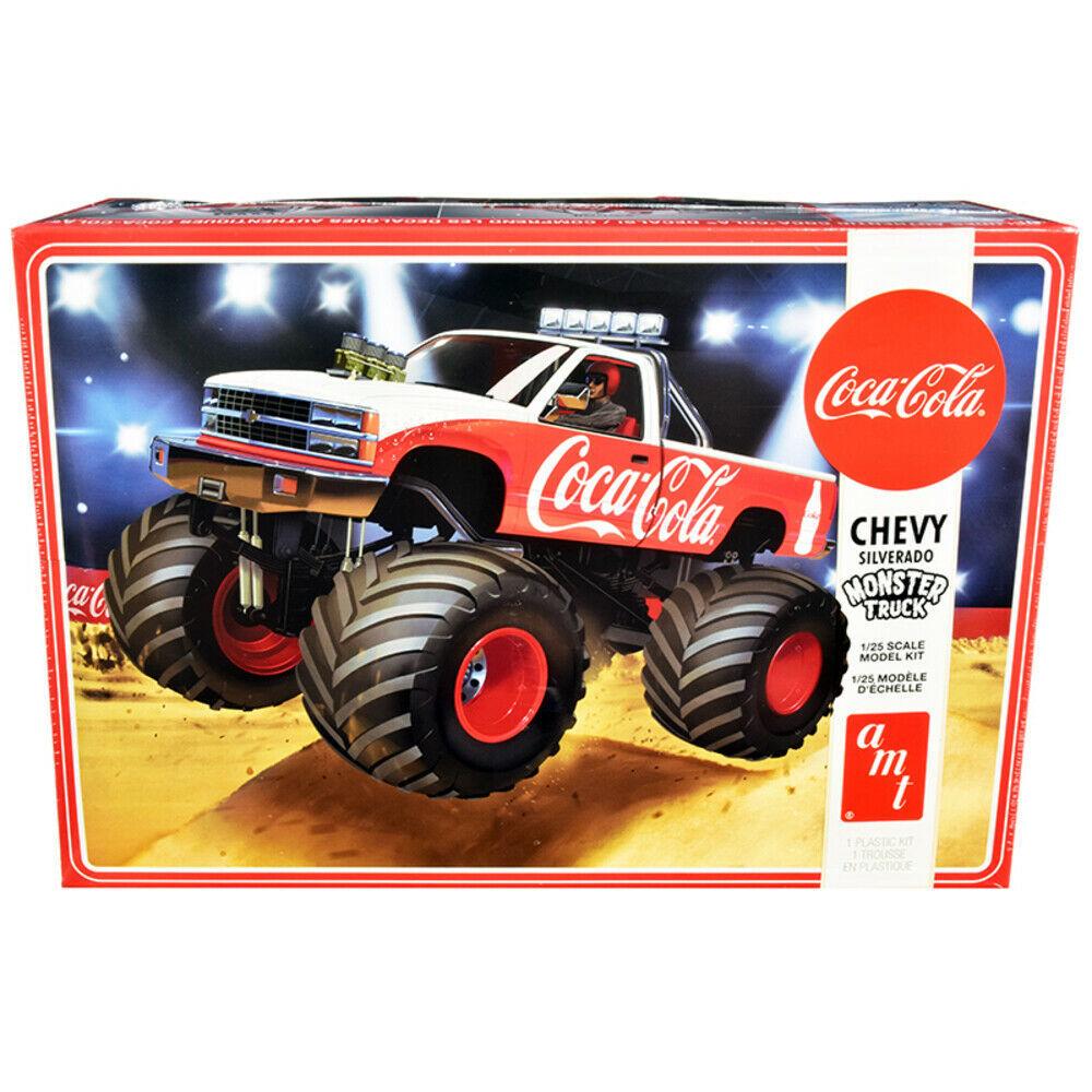 Skill 2 Model Kit Chevrolet Silverado Monster Truck Coca-Cola 1/25 Scale Mode... - $56.68