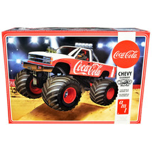 Skill 2 Model Kit Chevrolet Silverado Monster Truck Coca-Cola 1/25 Scale... - $56.68