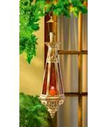 38373 Gallery of Light Hanging Amber Antique Finish Candle Lantern - $22.37