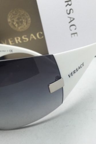 4d8902c236fac New VERSACE Sunglasses VE 2054 1000 8G 115 Gunmetal   White w Grey Gradient