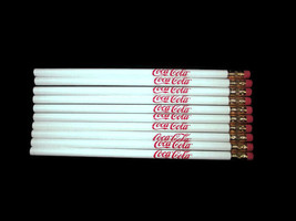Coca-Cola Pencils White Set of 10- BRAND NEW free shipping - $7.43