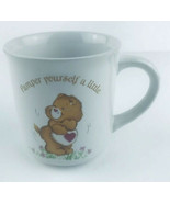 """Vintage 1983 Care Bears Coffee Mug """"Pamper Yourself a Little"""" Stoneware - $9.50"""