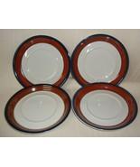 Set of 4 Saucers MIKASA POTTERS ART Ben Seibel Design FIRE SONG PF003 - $13.85