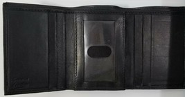 MI) Men's Trifold Black Soft Genuine Leather Wallet Credit Card License ... - $9.89