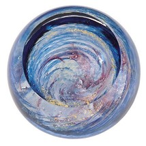 Milky Way Galaxy Paperweight Glass Eye Studio Celestial Art Decor NIB 50... - $119.95