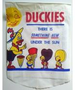 Duckies 1950s Ice Cream Bag Huey Louie and Dewey Donald Duck Nephews Art... - $21.13