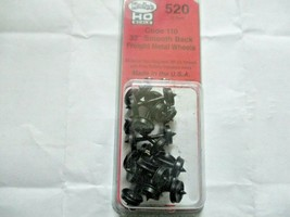Kadee # 520 33' Smooth Back Metal Freight Wheels Code 110 RP-25, 12 Axles (HO) image 1