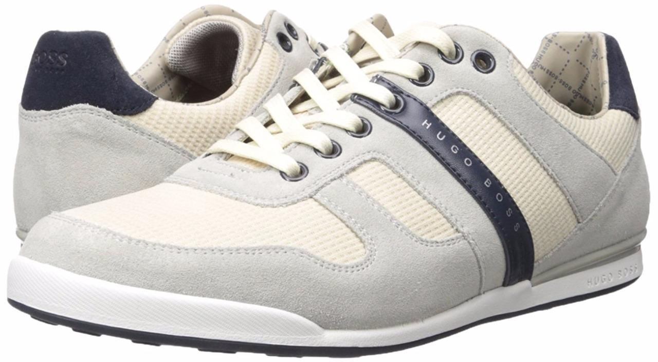 Hugo Boss Green Men's Premium Sport Fashion Sneaker Shoes Arkansas Medium Beige