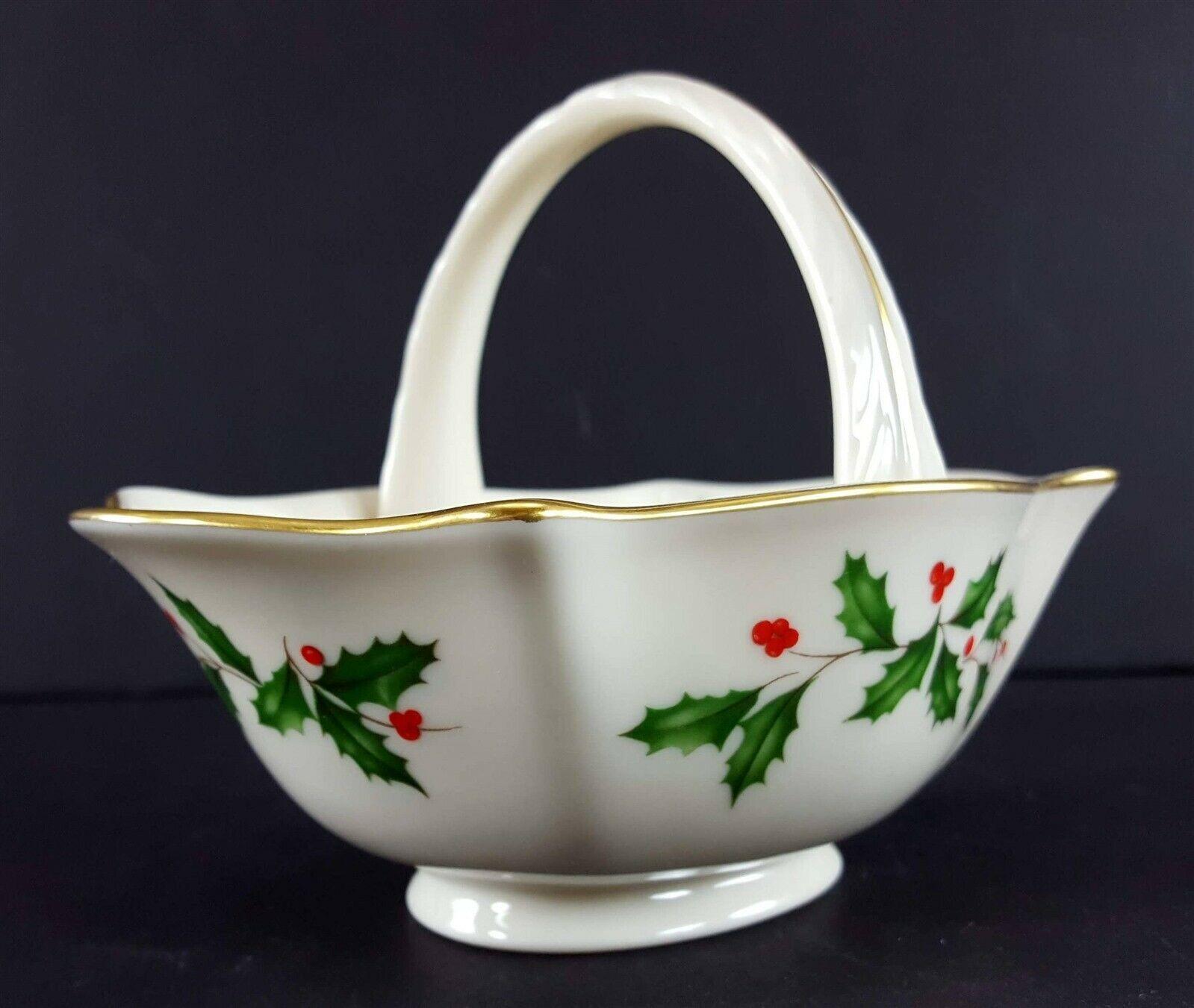 "LENOX China Holiday Dimension Small Basket 4-1/2"" Across Dinnerware image 4"
