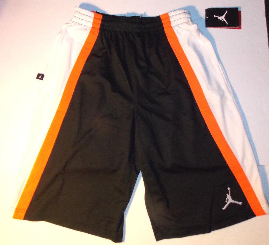 30a51d8afb2 Air Jordan Boys Athletic Shorts Black, Orange Sizes 10-12Yrs, 12-13Yrs,  13-15Yrs - $17.54