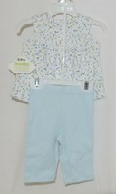 SnoPea Two Piece Flowered Sleeveless Shirt Light Blue Pants Size 9 months image 2
