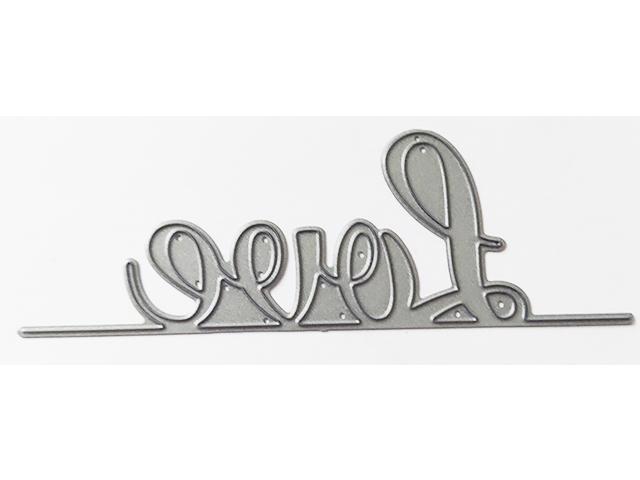 """Love"" Die for Paper Crafting, Card Making, Scrapbooking"