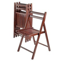 Winsome Wood Robin Collection 4-Piece Wooden Folding Chair Set in Walnut... - $169.98
