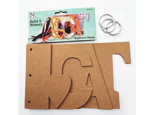 "Nicole Crafts Build a Memory ""Cat"" Chipboard Album #MEM5403"