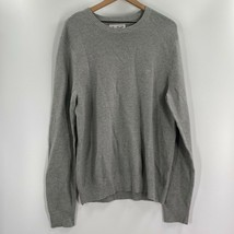 Munsingwear Original Penguin Mens Pullover Sweater Gray Ribbed 100% Cott... - $26.94