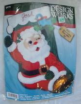New Design Works WINKING SANTA 5079  DIY Christmas Stocking Kit - Circa 1990s  - - $9.99