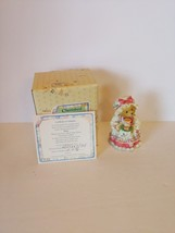 Cherished Teddies 14119 Holly A Cup of Homemade Love Girl Tray Hot Cocoa 1995 - $14.80