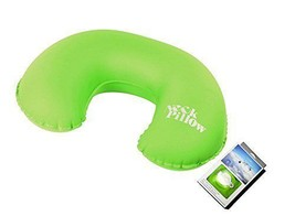 Compact Inflatable Flights Neck Pillow Soft and Portable for Travel Camping - $18.26 CAD