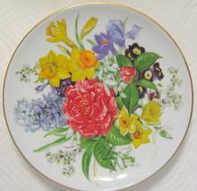 Hutschenreuther Floral Plate Frublingsmorgen Ursula Band Germany - $49.00
