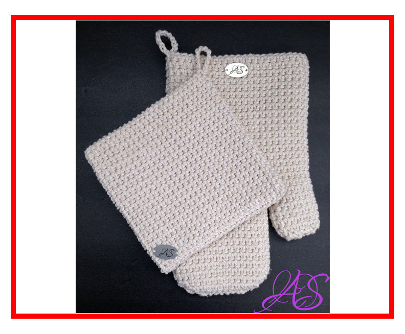 Oven Set Potholder Crochet Pattern And And Similar Items
