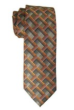John Ashford Men's Stephen Grid Pattern Necktie; Orange Multi [Apparel] - €15,49 EUR