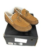 SOREL Maddox Mens Size 11.5 Moc Suede Leather Fur Lined Slipper Nutmeg B... - $79.19